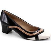 Sapato Scarpin Dsanny S663 - Feminino-Preto