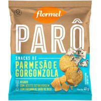 Biscoito Polvilho Parô Parmesão E Gorgonzola Com 40G Flormel 40G