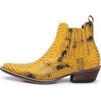 Bota Ravena Bota Amarelo - Amarelo - Masculino - Dafiti