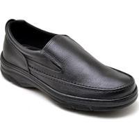 Sapato Gh Calcados Elastico Anti-Stress Conforto Masculino - Masculino-Preto