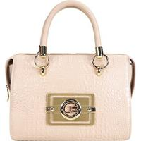fb6aff53f ... Bolsa Couro Jorge Bischoff Handbag Croco Feminina - Feminino-Bege