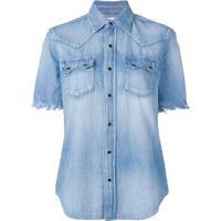 Saint Laurent Camisa Jeans - Azul