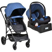 Carrinho Bebe Travel System Convert Touring Evolution X Blue E Base