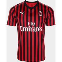 Camisa Milan Home 19/20 S/N° Torcedor Puma Masculina - Masculino