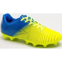Chuteira Vibe- Amarelo Neon & Azul- Umbroumbro