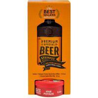 Kit Qod Barber Shop Shampoo Cabelo E Barba Premium Special Beer 220Ml + Pomada Capilar Killer Alta Fixação Efeito Matte 70G