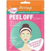 Máscara Facial Clareadora Peel Off Dermage Sachê 10G - Unissex-Incolor