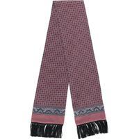Dolce & Gabbana Cachecol Com Estampa E Franjas - Rosa