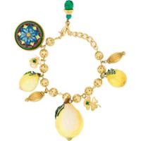 Dolce & Gabbana Pulseira Com Pingentes - Dourado