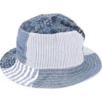 Miki House Chapéu Jeans Com Patchwork - Azul