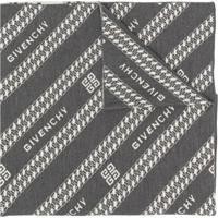 Givenchy Echarpe Com Padronagem - Cinza