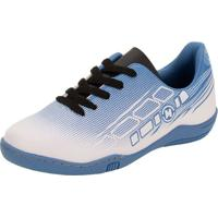 Chuteira Infantil Futsal Molekinho - 2808117 Branco/Azul 27