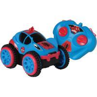 Carrinho De Controle Remoto - Spider Flip - Marvel - Spider-Man - Candide - Disney