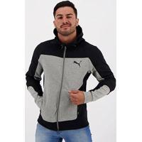 Jaqueta Puma Evostripe Hooded Jacket Masculina - Masculino-Cinza