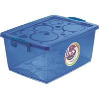 Caixa Organizadora Com Trava- Azul- 18,6X41,2X29,5Cmordene