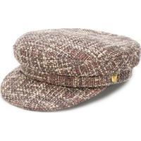 Manokhi Tweed Biker Hat - Neutro