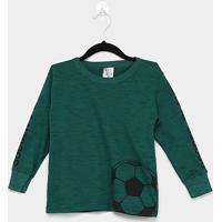 Camiseta Infantil Pulla Bulla Soccer Player Manga Longa Masculina - Masculino