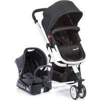 Carrinho Com Bebê Conforto Mobi Travel System Preto E Branco - Safety 1St
