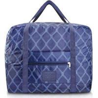Bolsa De Viagem Dobrável Jacki - Unissex-Azul