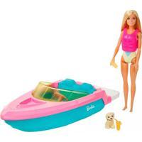 Boneca Barbie Com Barco