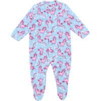 Pijama Tip Top Longo Menina Unicórnio Azul
