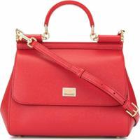 Dolce & Gabbana Bolsa Tiracolo Com Alça De Mão - Vermelho