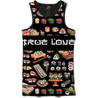 Camiseta Bsc Regata True Love Full Print - Masculino-Preto