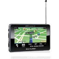 "Gps Lcd 4.3"" Touch Tv Digital Tts Preto Multilaser Gp034"