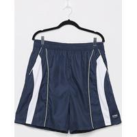Shorts Gajang Fitness Riscos Plus Size Masculino - Masculino-Marinho