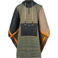 Mostly Heard Rarely Seen Quilted Padded Poncho - Verde
