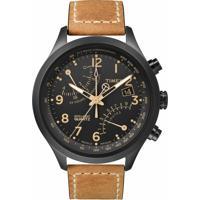 Relógio Masculino Timex, Analógico, Marrom, Pulseira De Aço, Caixa De 4,4Cm. Resistente À Água 10 Atm - T2N700Wwtn