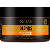 Máscara Hidratação Inoar Blends Vitamina C Combinação Óleos Coco Abacate Argan Alta Hidratação Birlho Intenso 250G