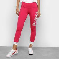 Calça Legging Puma Modern Sports Feminina - Feminino-Rosa