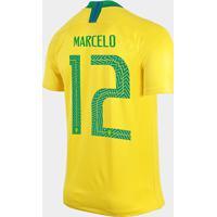 Netshoes  Camisa Seleção Brasil I 2018 Nº 12 Marcelo - Torcedor Nike  Masculina - Masculino fc54913805b29
