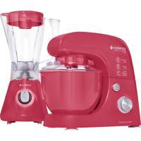 Kit Colors Rosa Doce Batedeira Liquidificador Cadence 127V