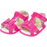 Sandália Verniz Sapatinhos Baby Pink
