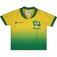 Camisa Brasil Infantil Torcida Baby Masculina - Masculino