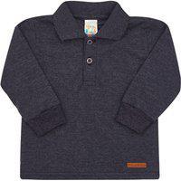 Camisa Polo Mescla Preto - Bebê - Menino Meia Malha 45257-876 Polo Preto - Bebê Menino Meia Malha Ref:45257-876-M