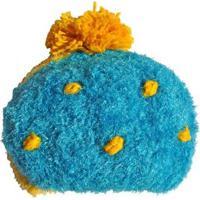 Gorro Infantil Ania Store Gotinha De Limão - Feminino-Amarelo+Azul