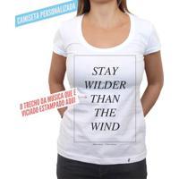 Letra Da Música Personalizada - Camiseta Clássica Feminina