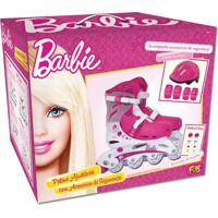 Barbie Patins Ajustável 37 A 40 Com Acessórios - Intek