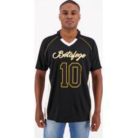 Camiseta Botafogo Futebol Americano Preta E Branca