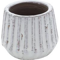 Vaso Decorativo De Porcelana Branco Lind P