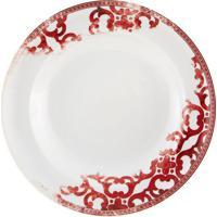 Prato Fundo Timeless Porcelana Unidade Branco E Vermelho Vista Alegre Atlantis