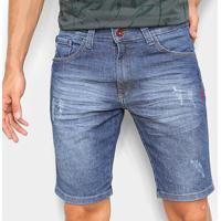 Bermuda Jeans Ecko Slim Masculina - Masculino