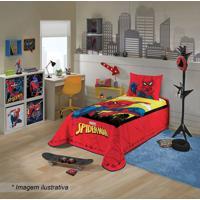 Colcha Spider Manâ® De Solteiro- Vermelha & Amarela- Lepper