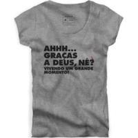 Camiseta Grande Momento Reserva Masculina - Masculino-Cinza