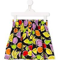 Stella Mccartney Kids Saia Fruit - Preto