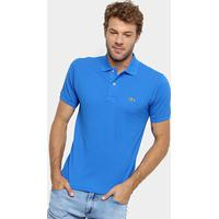 Camisa Polo Lacoste Original Fit Masculina - Masculino-Azul Navy