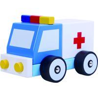 Carrinho De Madeira Desmontável - Ambulância Brinquedo Educativo Tooky Toy
